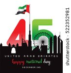 united arab emirates national... | Shutterstock .eps vector #522352981