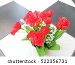 flowers in plant box | Shutterstock . vector #522356731
