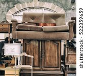 vintage furniture and other... | Shutterstock . vector #522359659