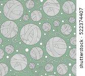 seamless doodle background.... | Shutterstock .eps vector #522374407