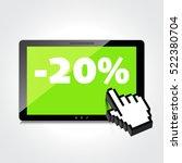 sale  markdown  discount 20... | Shutterstock .eps vector #522380704