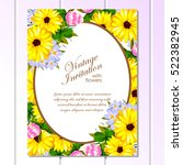 vintage delicate invitation... | Shutterstock . vector #522382945