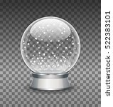 snow globe vector illustration. ... | Shutterstock .eps vector #522383101