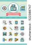 icon set photo vector | Shutterstock .eps vector #522388747