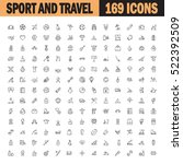 sport and recreation flat icon... | Shutterstock .eps vector #522392509