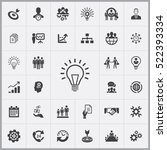 business planning icons...   Shutterstock .eps vector #522393334