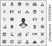 business planning icons... | Shutterstock .eps vector #522393364