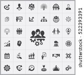 business planning icons... | Shutterstock .eps vector #522393391