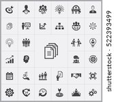 business planning icons... | Shutterstock .eps vector #522393499