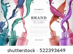 colorful nail lacquer ads  nail ... | Shutterstock .eps vector #522393649