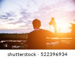 man nature photographer with... | Shutterstock . vector #522396934
