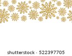 christmas frame with gold... | Shutterstock . vector #522397705
