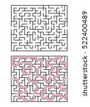 vector labyrinth. maze  ...   Shutterstock .eps vector #522400489