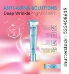 retinol anti aging cream ads.... | Shutterstock .eps vector #522408619