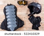 overhead view of ski and... | Shutterstock . vector #522410329