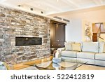 colorful wall with furniture... | Shutterstock . vector #522412819