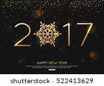 happy new year  2017 night... | Shutterstock .eps vector #522413629