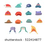 set of hats for boys and girls... | Shutterstock .eps vector #522414877