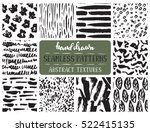 set of ten hand drawn ink... | Shutterstock .eps vector #522415135