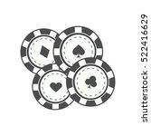 gambling chips vector in... | Shutterstock .eps vector #522416629