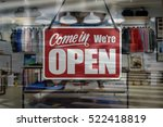a business sign that says 'come ... | Shutterstock . vector #522418819