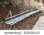 simple bamboo bench beside...   Shutterstock . vector #522420115