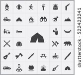tent icon. camping icons... | Shutterstock .eps vector #522423241