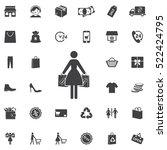 women shopping icon. universal... | Shutterstock .eps vector #522424795