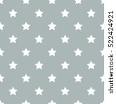 seamless star pattern vector | Shutterstock .eps vector #522424921