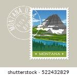 montana  postage stamp design.  ... | Shutterstock .eps vector #522432829