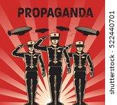 propaganda poster template | Shutterstock .eps vector #522440701