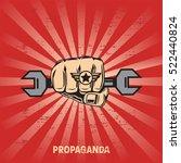 propaganda poster template | Shutterstock .eps vector #522440824