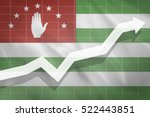 white arrow growth up on the... | Shutterstock . vector #522443851