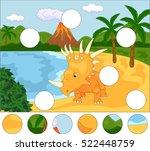 funny cute styracosaurus the... | Shutterstock . vector #522448759