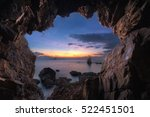 the cave with beautiful sunset... | Shutterstock . vector #522451501