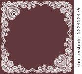 lace frame  | Shutterstock .eps vector #522452479