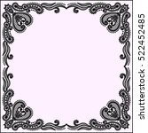lace frame  | Shutterstock .eps vector #522452485