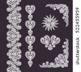 lace seamless pattern. | Shutterstock .eps vector #522455959