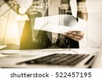 double exposure of recheck... | Shutterstock . vector #522457195