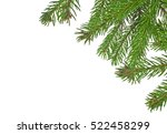 christmas green framework... | Shutterstock . vector #522458299