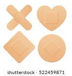 aid band plaster strip medical... | Shutterstock . vector #522459871