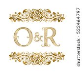 O And R Vintage Initials Logo...