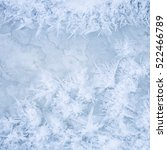 frost patterns on ice. beauty... | Shutterstock . vector #522466789