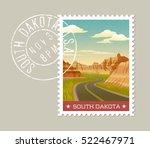 south dakota  postage stamp...