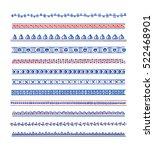 vector graphic set of hand... | Shutterstock .eps vector #522468901