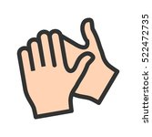 clapping hands | Shutterstock .eps vector #522472735