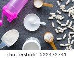 bodybuilding supplements  ... | Shutterstock . vector #522472741