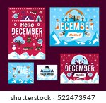 a set of illustrations on the... | Shutterstock .eps vector #522473947