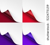 vector set of curled colored... | Shutterstock .eps vector #522475159