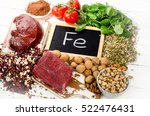 products containing iron.... | Shutterstock . vector #522476431